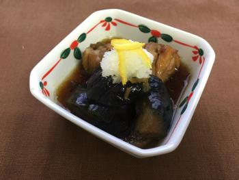 mini茄子若鶏生姜煮