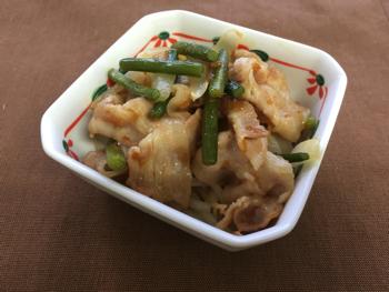 mini豚生姜焼き