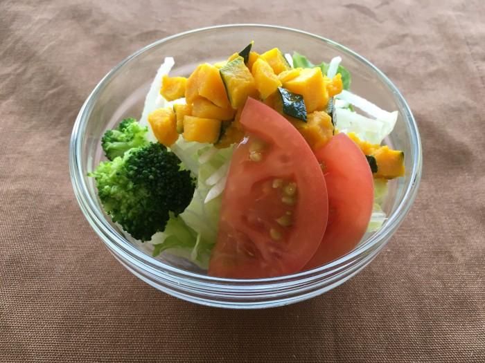トマトとかぼちゃのサラダ