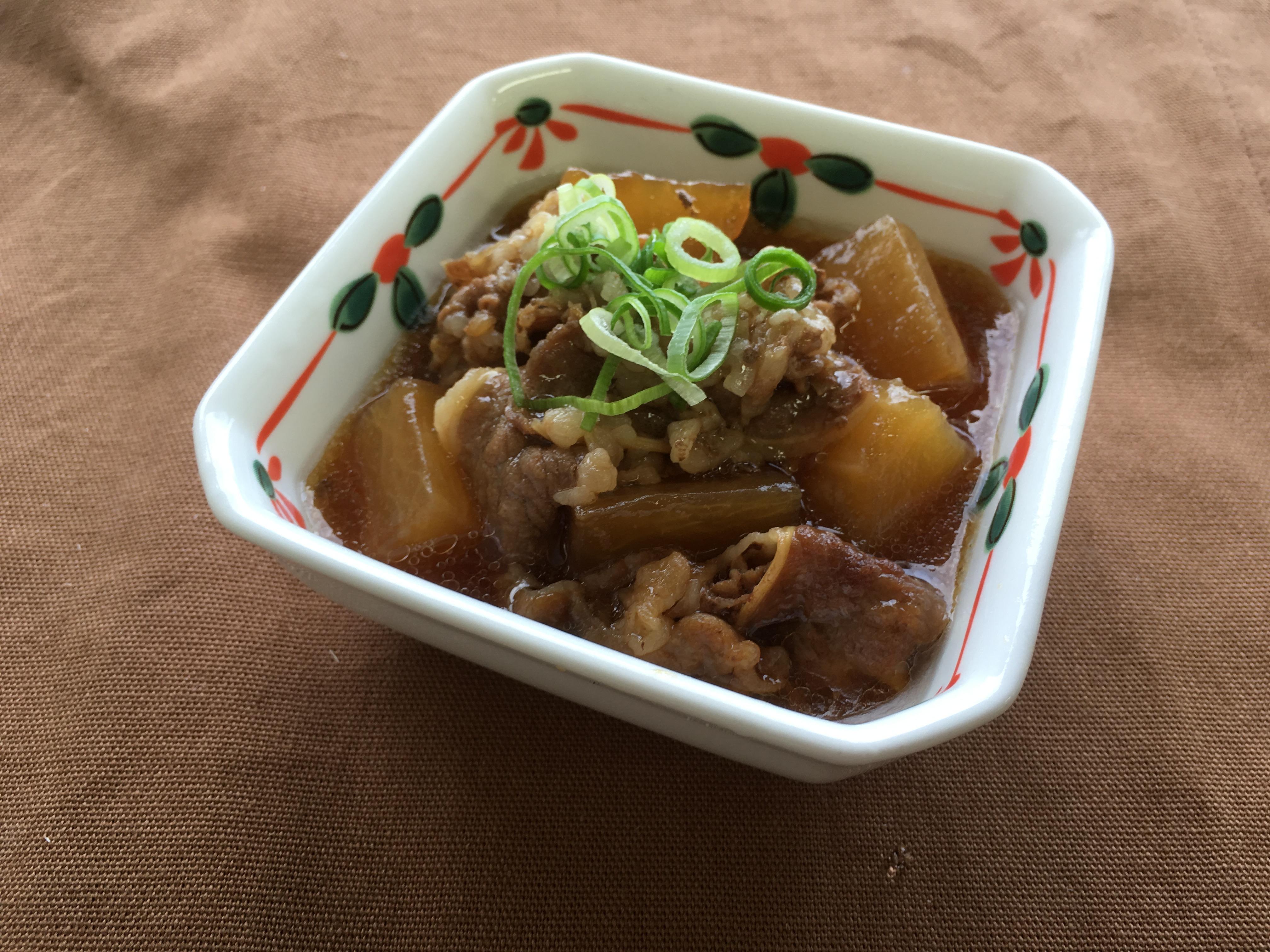 mini牛肉と大根とろーり煮
