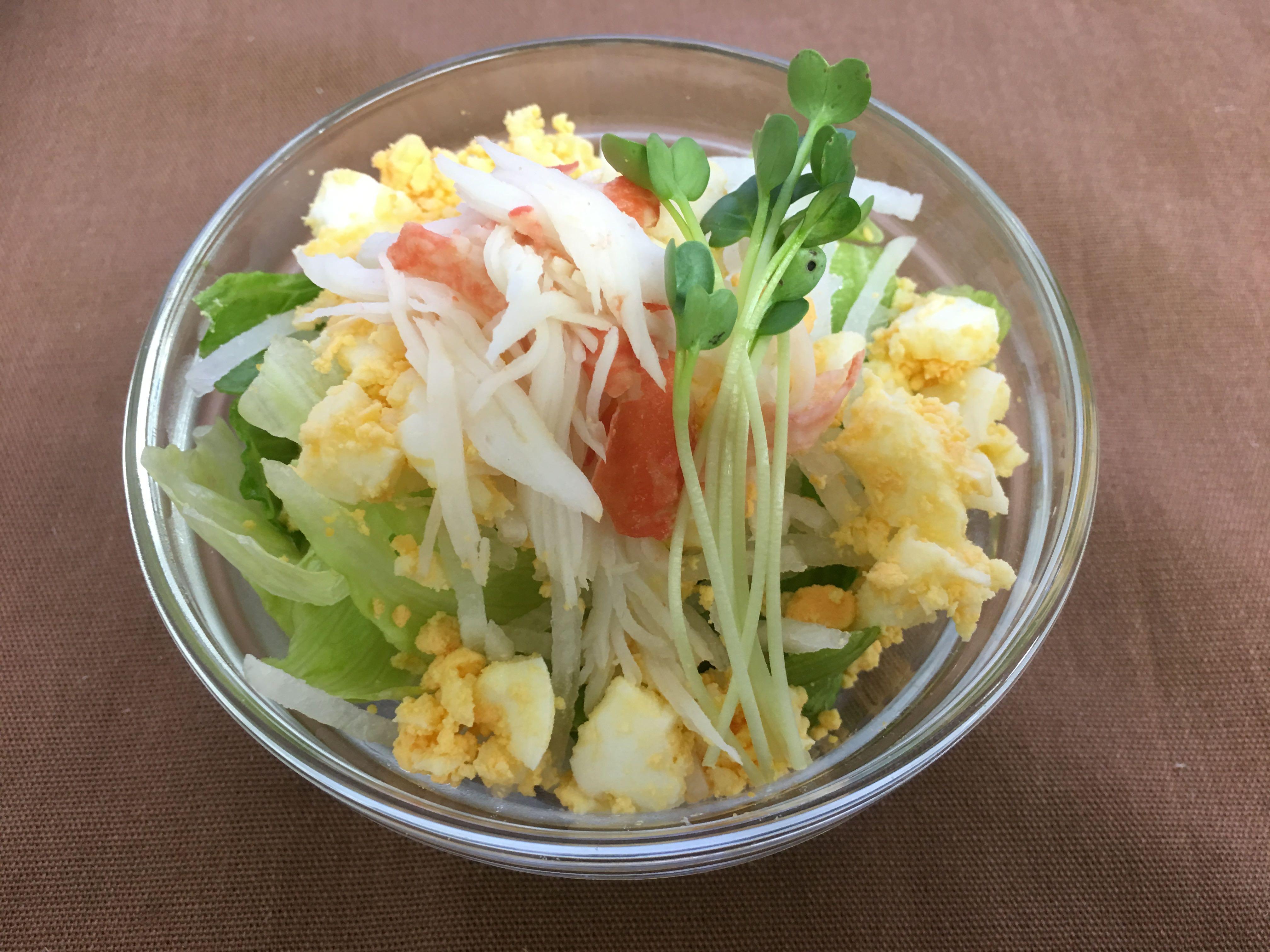 カニカマ玉子サラダ