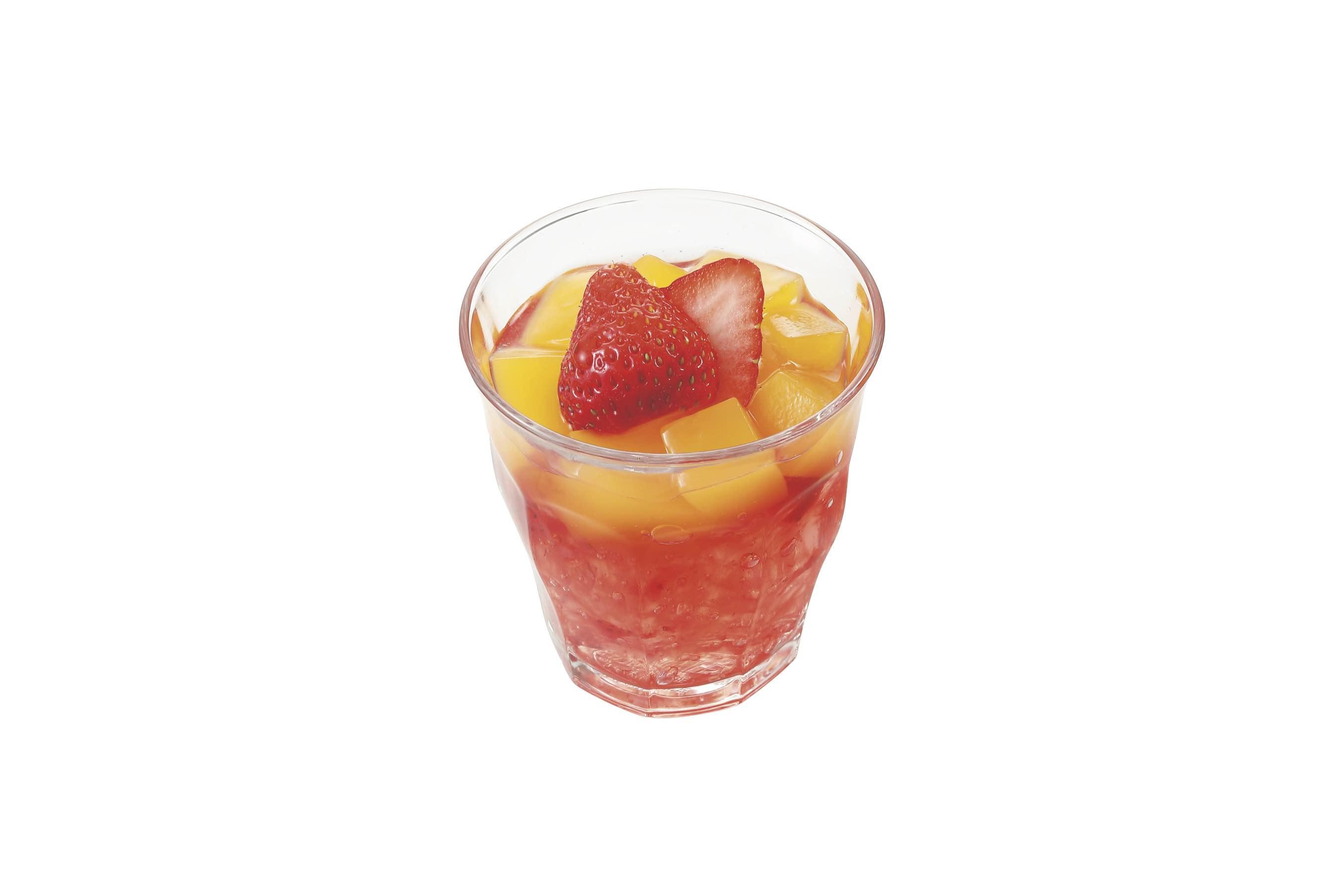 苺とみかんのゼリー