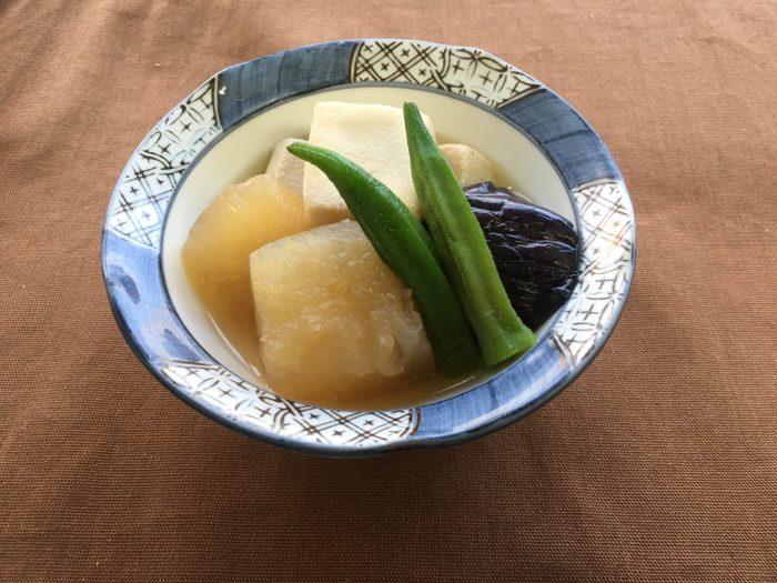 季節野菜と高野煮