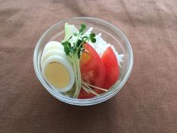 トマトと玉子のサラダ