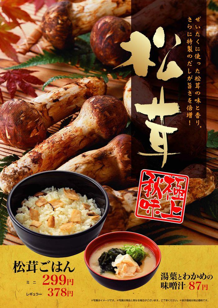 贅沢に使った松茸の味と香り、特製だしが旨さを引き立てます!