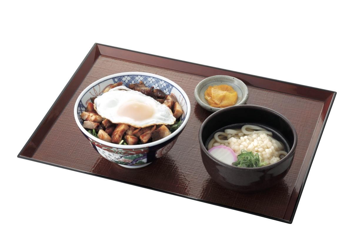 煮豚丼とミニうどんセット