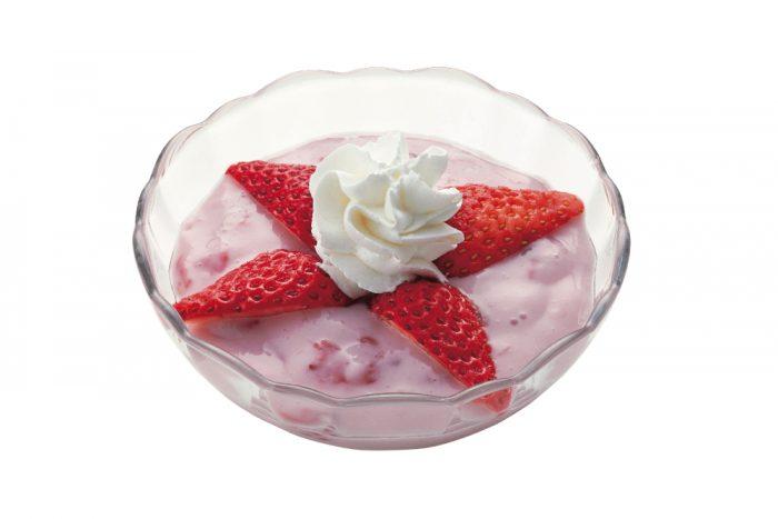苺のミルクプリン