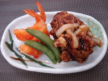 海老チリ&黒酢鶏