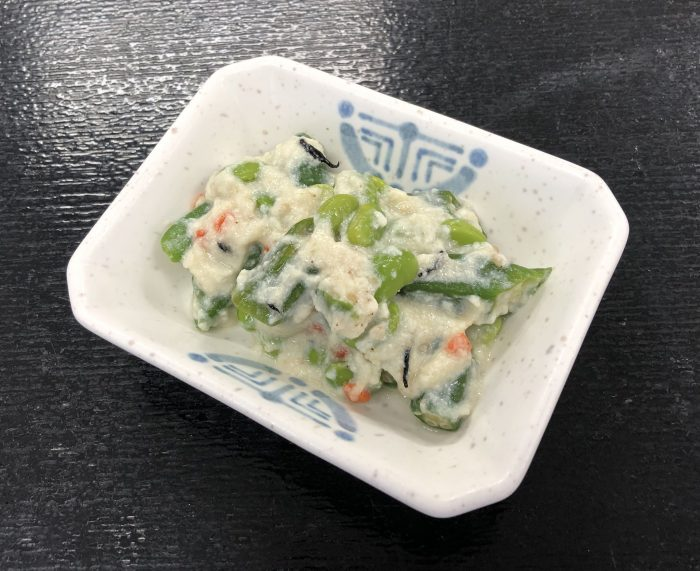 緑野菜の白和え