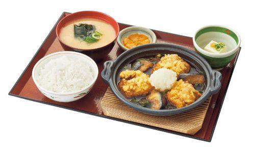 鶏竜田おふくろ煮定食