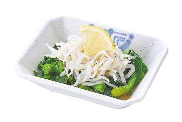 釜揚げ白魚(しらうお)酢の物
