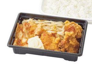 唐揚げ&豚生姜焼き弁当