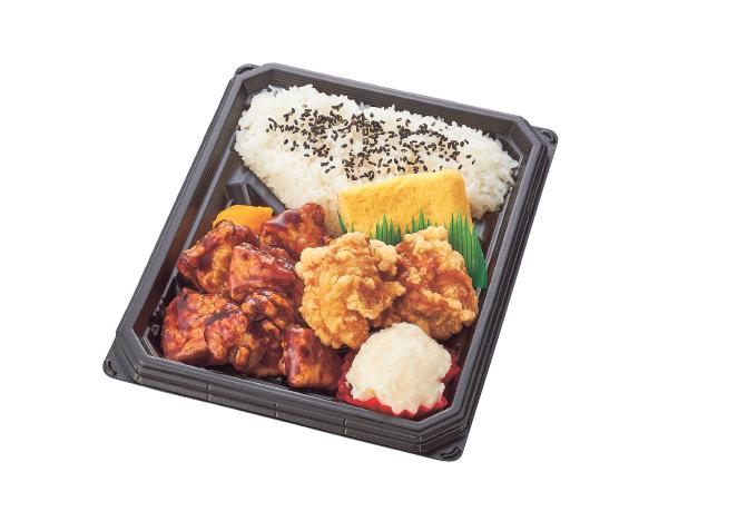 黒酢豚&唐揚げ弁当
